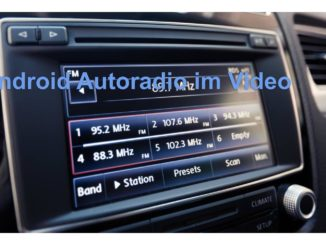 Android Autoradio im Video